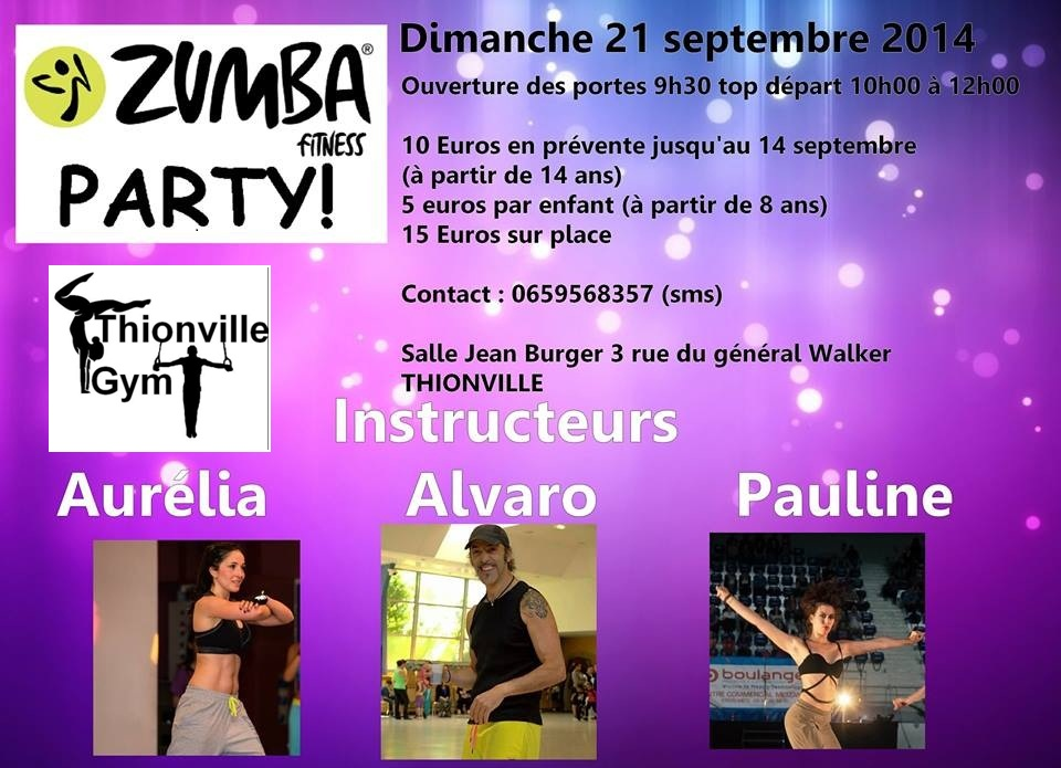 Flyer zumba party 5