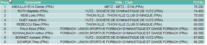 Sarreguemines 2015 classement poussins