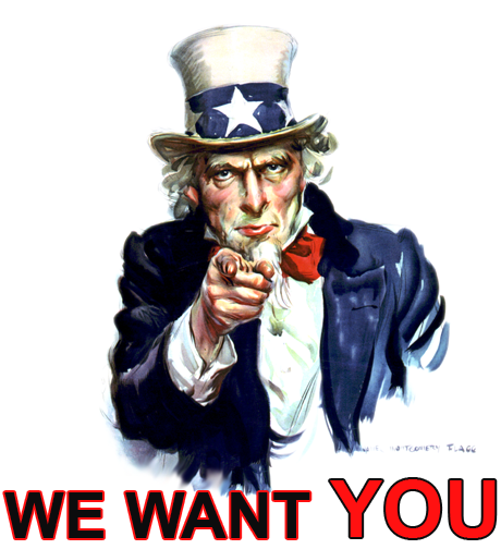 We want you 1